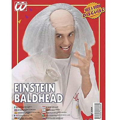 New Einstein Baldhead Wig for Scientist Doctor Professor Fancy Dress Accessory
