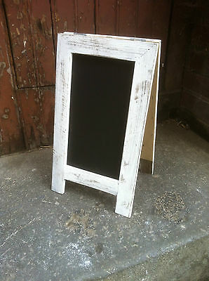 A-Frame Chalkboard, Recycled Timber, Rustic Blackboard, White Washed