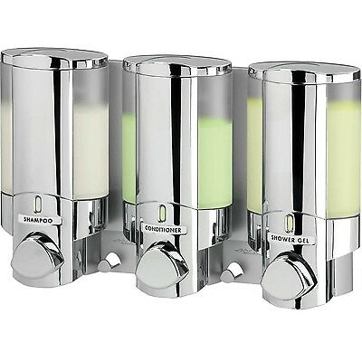 Better Living AVIVA Three Chamber Dispenser Chrome Better Living Products