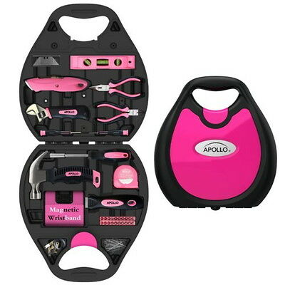 72 Piece Household Tool Kit Pink Heat treated Chrome plated in Stylish case DT49
