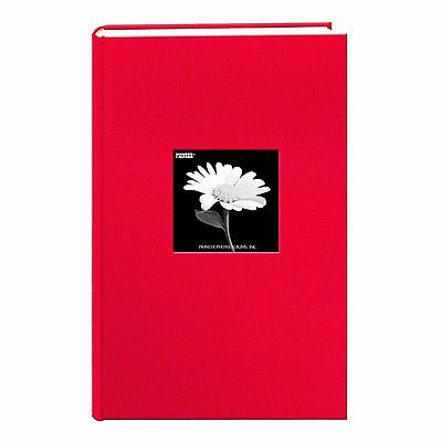 Pioneer Photo Albums 300 Pocket Fabric Frame Cover Photo Album Apple Red