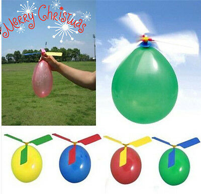 Kids Balloon Helicopter Flying Toy Boys Girl Xmas Gift Birthday Party Bag Filler