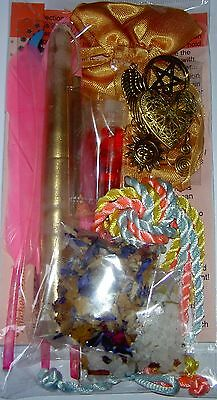 Witches Ladder Pentagram Spell Kit Sun Gold Friendship