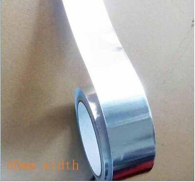 50mmx20m Aluminium Foil Insulation Silver Tape Self adhesive Heat reflecting new