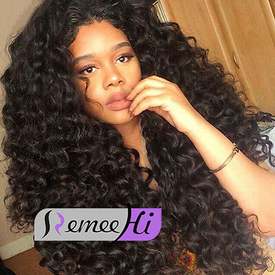 Hot Sale 150% density deep italy curly full/front lace wig Brazilian Human Hair