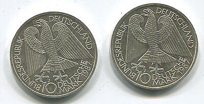 Lot of 2. 1987 Germany 10 Mark Silver. Uncirculated. Anniversary of Berlin.