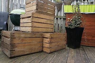 Vintage Wooden Crates Storage Box Fruit Crates Box Shabby Chic