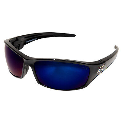 Edge Reclus Safety Glasses with Black Frame and Blue Mirror Lens