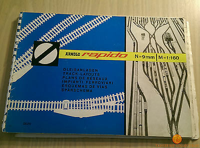 Arnold Rapido N GaugeTrack-Layouts Book with English Translation Booklet & Ruler