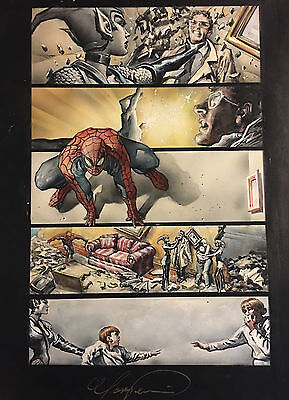 Spider-Man Legacy Of Evil~Original Art~Painting~Mark Texeira~Large/published~