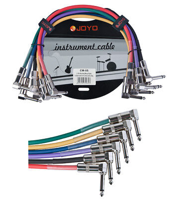 JOYO CM-05 6 x Guitar Effect Pedal Patch Cable 6.3mm Male to 6.3mm Shielded Mono
