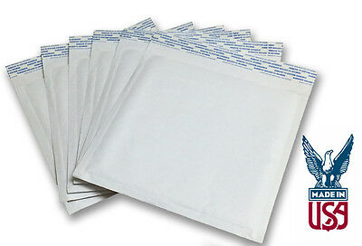 100 QTY Size #CD 7.5x8 Kraft White Bubble Mailers (SHIPS TODAY)
