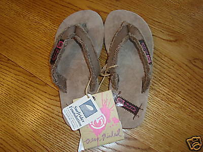 77d46e97f OCEAN MINDED LAGUNA youth girl flip flops size S Small NWT ...