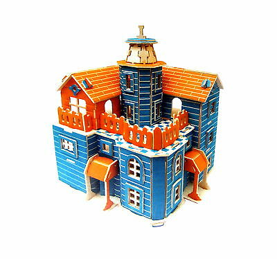 Lake view House Wood building set 3D Puzzle Wooden Modelmaking model making NEW