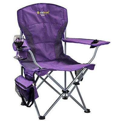 OZTRAIL MODENA PURPLE CHAIR Folding Camping Picnic Arm Chair (FCE-MOD-C)