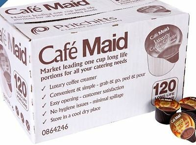 2x 120 CAFE MAID LUXURY COFFEE CREAMER -240 X12ML