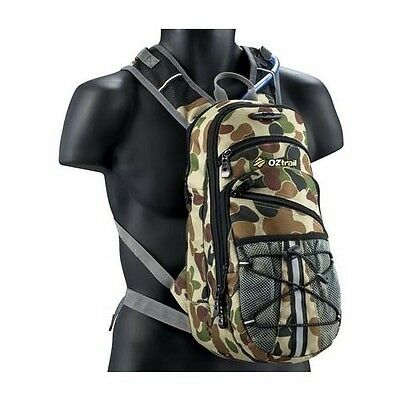 OZTRAIL MONITOR 3 LITRE CAMO Back Hydration Pack Bladder Camoflage