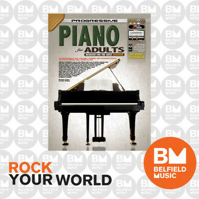Progressive 11809 Piano For Adults Beginner Book Free DVDs & CD Learning KPPPA