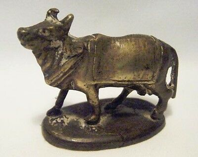 Miniature Antique Brass Figure Of A Sacred Cow