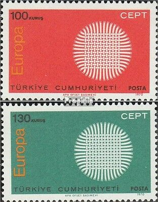 Turkey 2179-2180 (complete issue) unmounted mint / never hinged 1970 Europe