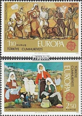 Turkey 2355-2356 (complete issue) unmounted mint / never hinged 1975 Europe: Pai