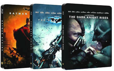 Il Cavaliere Oscuro - The Dark Knight Trilogy (3 Blu-Ray) Steelbook Collection