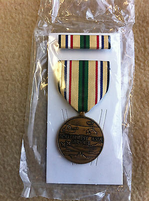 American Southwest Asia Service Medal, Desert Storm Medal with Ribbon and Box