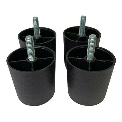 "2"" Brown Round HDPE PLastic Sofa Leg W/Bolt Set of 4 By ProFurnitureParts"