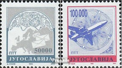 Yugoslavia 2605A-2606A (complete issue) unmounted mint / never hinged 1993 clear