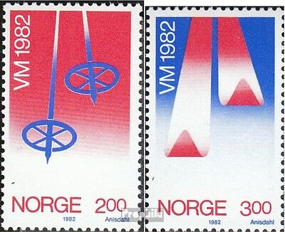 Norway 853-854 (complete issue) unmounted mint / never hinged 1982 Ski-WM