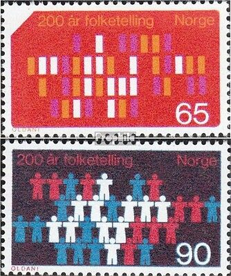 Norway 596-597 (complete issue) unmounted mint / never hinged 1969 Census