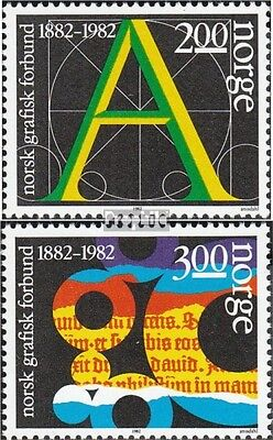 Norway 872-873 (complete issue) unmounted mint / never hinged 1982 trade unions