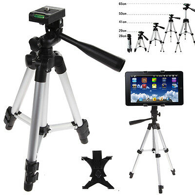Professional Camera Tripod + Tablet Stand Holder for iPad 2 3 4 Mini Air Pro New