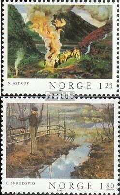 Norway 823-824 (complete issue) unmounted mint / never hinged 1980 Paintings