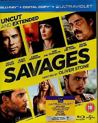 SAVAGES-Oliver Stone-Blu Ray DVD-(Region B)+ Digital copy-Brand New-Still sealed