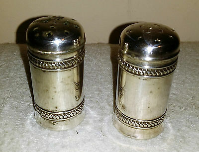 Antique Maltby, Stevens & Curtiss Co. Silver Salt and Pepper Shakers