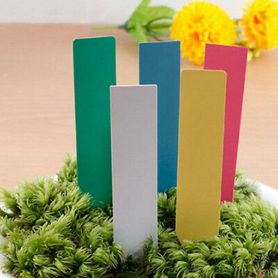 4'' Garden Plant Pot Markers Plastic Stakes Tags Yard Court Nursery Seeds Labels