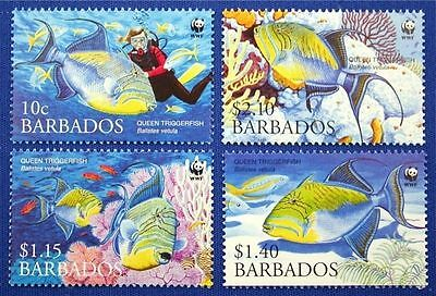 Barbados 2006 WWF Queen Triggerfish  MNH