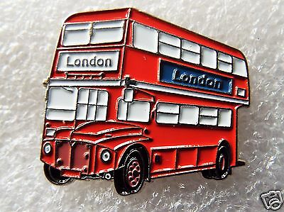 London Route Master Red Double Decker Bus enamel pin / lapel badge