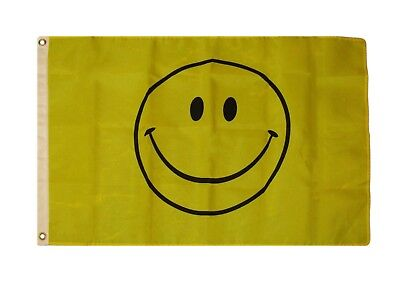 2X3 HAPPY SMILEY Face Smile Rough Tex Knitted Flag 2'x3' Grommets