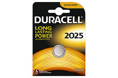 3 x Duracell CR2025 / DL2025 Coin Cell Lithium Battery Key Fob Bike Computer