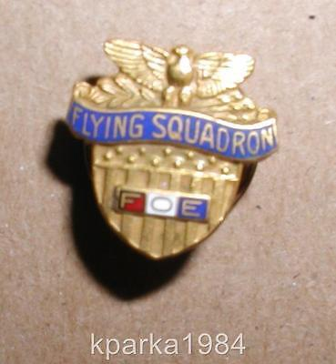 """Foe Fraternal Order Of Eagles """"flying Squadron"""" Lapel Insignia Pin"""