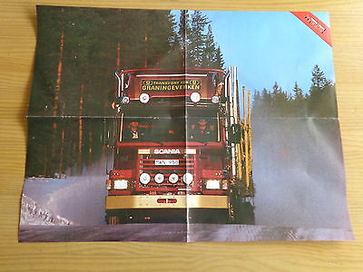 Scania 142 M (1988) - POSTER