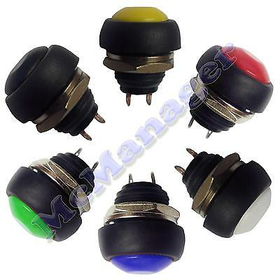 Off-On SPST Momentary Push Button Horn Switch Car Boat Dashboard Light 1A 250V