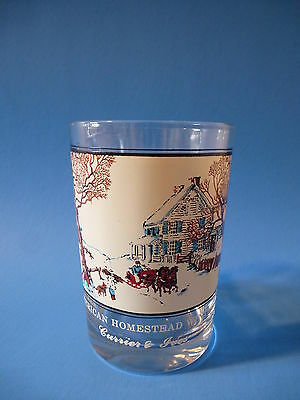 Currier & Ives Tumbler Glass:American Homestead Winter-Arby's Collector's Series