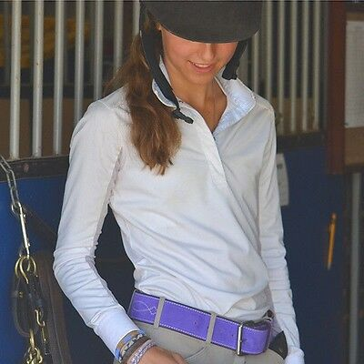 """Rebecca Ray Suede Bridle Stitch Belt - 2"""" - Different Colors & Sizes"""