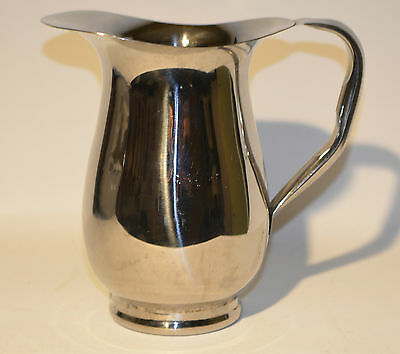 Stainless Steel Water Milk Juice Pitcher Contemporary Look 2 Qt