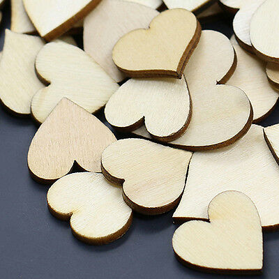 50X Mixed Sizes Butterfly Flower Heart Wood Buttons Popular Scrapbooking Sewing