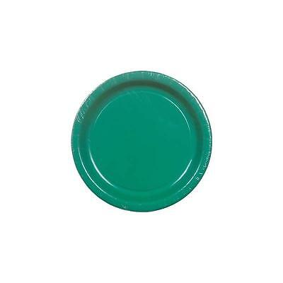 """Unbranded Emerald Green 8.75"""" Paper Dinner Plate 8Ct"""