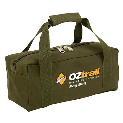 OZTRAIL CANVAS TENT PEG CARRY BAG (35x15x15cm) NEW